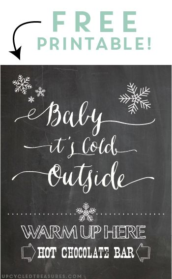 FREE Hot Chocolate Bar Printable  how cute would this be for a winter wedding???