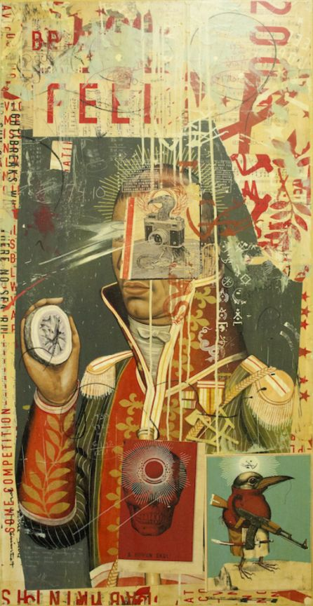 RAVI ZUPA - the feel of it - collage papiers 2014