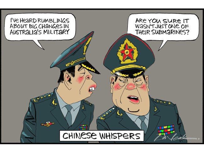 Humour about the new Australian Defence plan.