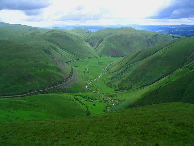 The Dalveen Pass, Dumfries and Galloway, Scotland.  My favorite road over there.  Breathtaking!