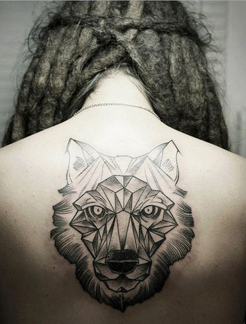 geometric wolf tattoo | art-tastic | Pinterest | Geometric ...