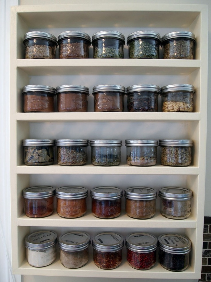 Spice Rack Use Mason Jars
