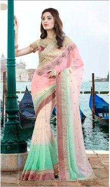 Pink Color Georgette Party Wear Saris Blouse | FH529980077 #traditional #ethnic #ootd #fashion #makeup #mua #hair #lehenga #saree #sari #jewellery #jewelry #asian #asia #wedding #weddingphotography #asianwedding #asianbride #bridal #bride #weddingbells, #love #fashion #india #wedding #floral #sari #desi #blouse #bollywood #weddings #couture #style #dress #editorial #designer #punjabisuit #makeup #sisters #satin #indianbride #beautiful #bride @heenastyle