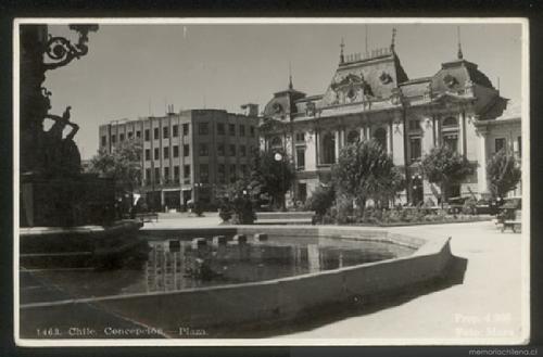 Plaza de armas de Concepcion hacia 1940 - chilesuhistoria