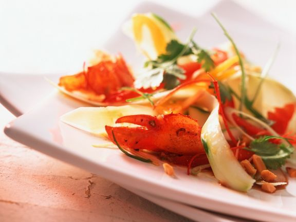 Hummer mit Papayasalat ist ein Rezept mit frischen Zutaten aus der Kategorie Hummer. Probieren Sie dieses und weitere Rezepte von EAT SMARTER!