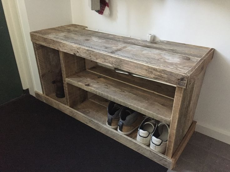 Schoenenkastje steiger / sloophout