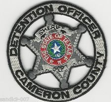 Cameron County Sheriff Detention Officer State of TEXAS Shoulder Patch TX