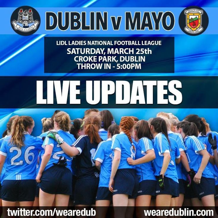 LIDL LADIES NATIONAL FOOTBALL LEAGUE - LIVE UPDATES | We Are Dublin GAA