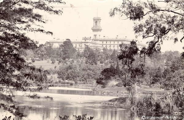 Government House from the Ornamental Lake. Photographer WH Cooper. ca 1911