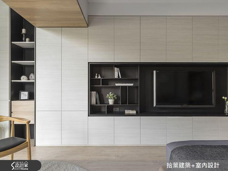 現代風的裝潢圖片為拾葉建築+室內設計的設計作品,該設計案例是一間新成屋(5年以下)總坪數為89,格局為三房,更多拾葉建築+室內設計設計案例作品都在設計家 Searchome
