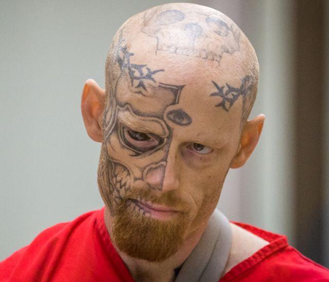 Hot Alaskan Women | Tattooed-Eyeball Skull Face Freak Shoots Cop in Bathroom Ambush