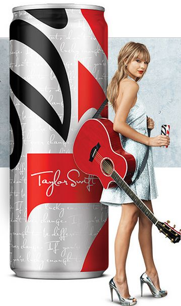Brand: Coke (1/2). Objective: Behavior- encourage purchase. Method: Coke is hoping that by partnering with pop/country artist Taylor Swift, they can encourage her fans to purchase their Diet Coke product due to the association between the beverage and Taylor Swift.