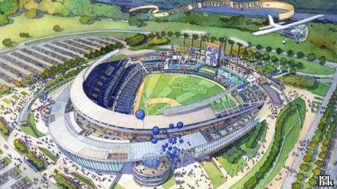 Kaufmann Stadium, Kansas City. Home of the Kansas City Royals.