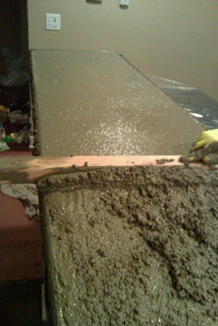 Pouring your own concrete counters with no experience. DIY for the brave :)
