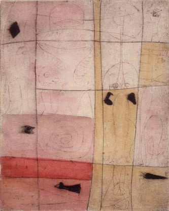 Adolph Gottlieb (1903-1974), Untitled etching on paper, 1945
