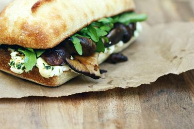 Butter Roasted Mushroom Sandwich, because #NationalSandwichDay. And because YUM.