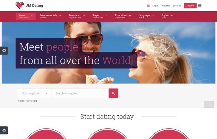 JM Dating -  excellent dating #Joomla 3.x #template based on new high quality EF4 #Framework.