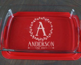 etched casserole dish – Etsy
