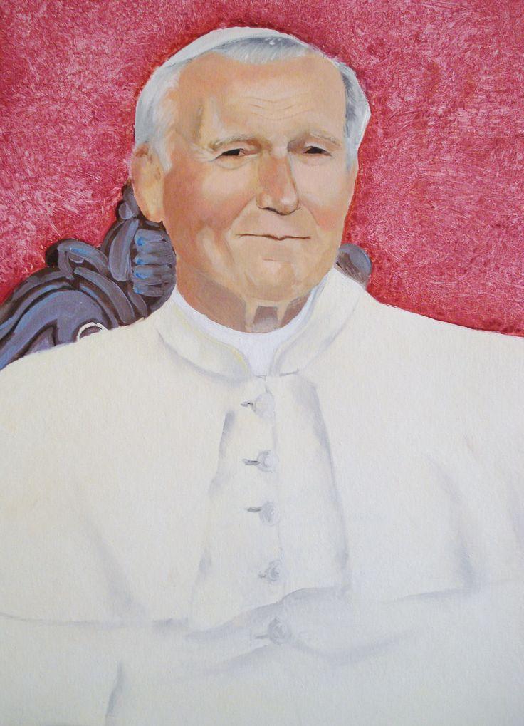 Papa Paolo Giovanni II - colori ad olio su tela di misure 50x40