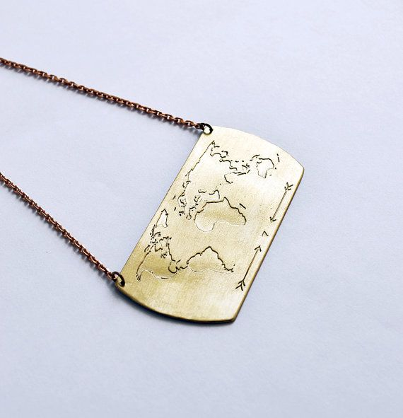 25 best travel jewels images on pinterest necklaces bucket lists handmade necklace with world map engraving gifts for women travel necklace traveler gift fernweh necklace personalized jewelry gumiabroncs Choice Image