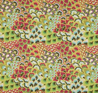 Amy Butler Soul Blossoms Bliss Peacock Bright Pear - eclectic - upholstery fabric - by Stephanie Sabbe