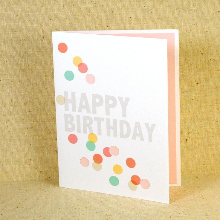 Happy Birthday Confetti Card