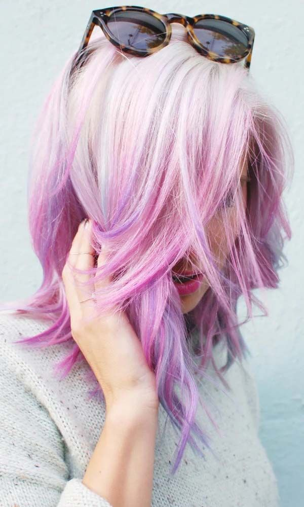 Pink Ombre On Short Blonde Hair In 2019 Lilac Hair Pink Hair