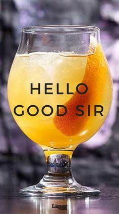 Hello Good Sir Cocktail 2oz Hennessy V.S.O.P Privilège cognac 1⁄2oz Peach liqueur 3⁄4oz Simple syrup 3⁄4oz Fresh lemon juice