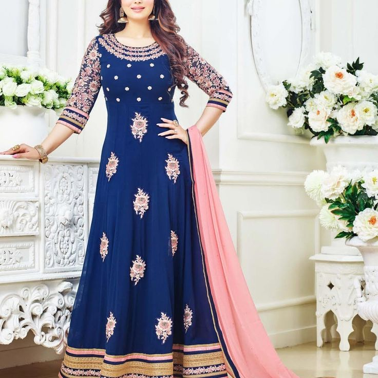 Ayesha Takia Blue Designer Bollywood Anarkali Suit » Shoppers99 #bollywood #ayeshatakia #anarkalidress #anarkalisuit #partywear #partydress #indian #ethnic