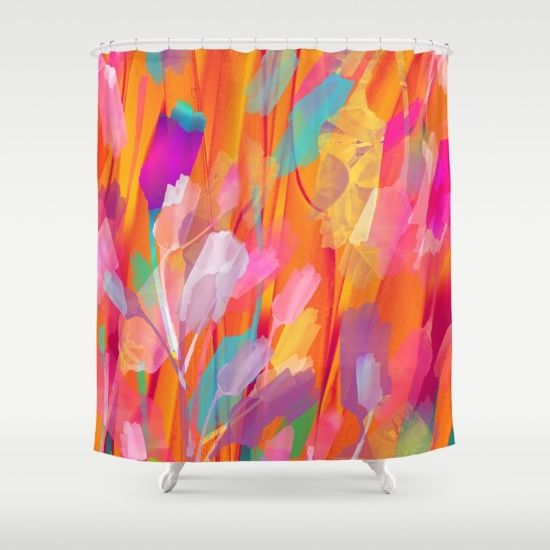 Floral abstract(55) Shower Curtain