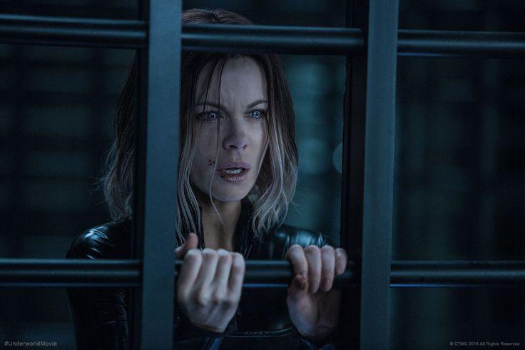 Tears in eyes. Selene (Kate Beckinsale). Official shot from Underworld: Blood Wars