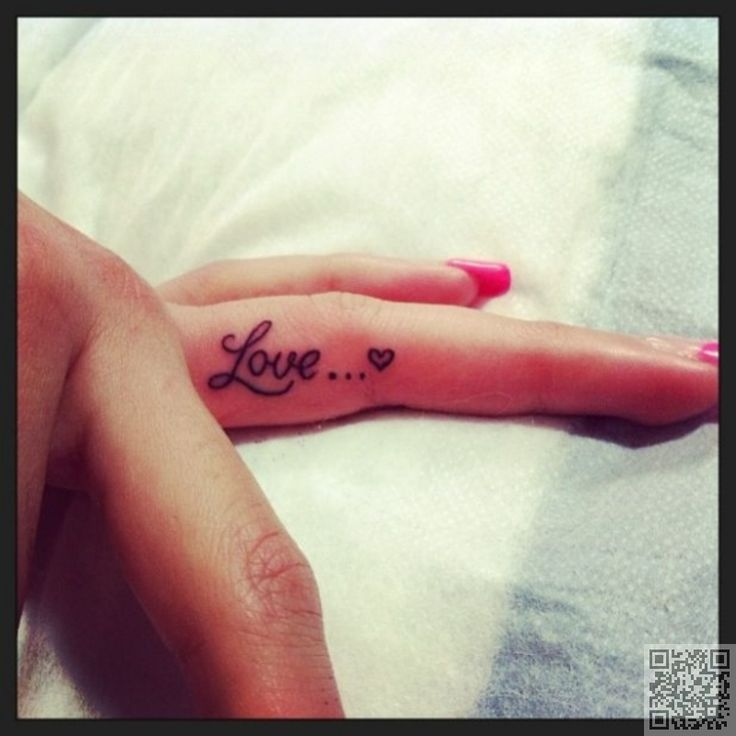 26. Love with a #Heart - 38 Tiny Finger #Tattoos That It's Impossible Not to Love ... → #Beauty #Designs