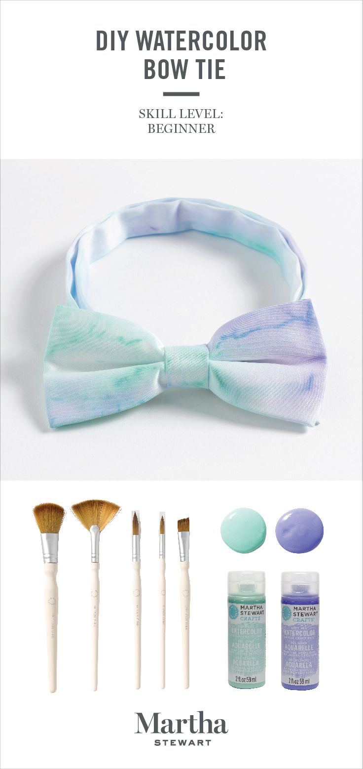 Wedding DIY: Use Martha Stewart Watercolor Craft Paints to create one-of-a-kind, colorful bow ties for the groom, groomsmen, and ushers! Our unique formula can be used on multiple surfaces from paper and fabric to ceramic! Shop our assortment of craft paints and tools only at @michaelsstores.