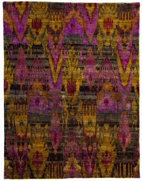 "Size: 7' 08"" x 9' 11"" Construction: Hand Knotted. Material: Silk. Colors: Multi Colors. Collection: MG. Origin: India. Description: Contemporary Sari Silk."