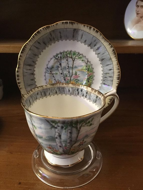 Royal Albert Silver Birch Teacup and Saucer
