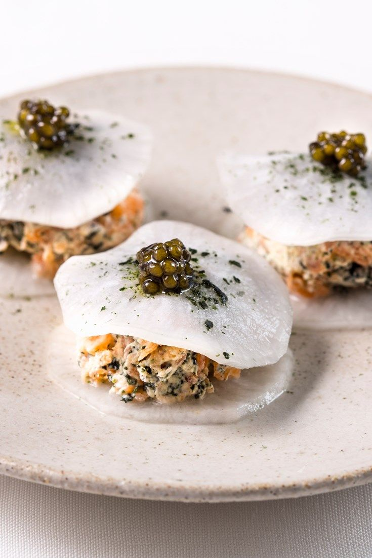 Browse through our brilliant collection of canapé recipes, including smoky eel puff pastries, crab and toasts, goats' cheesecake, scallop pops and more