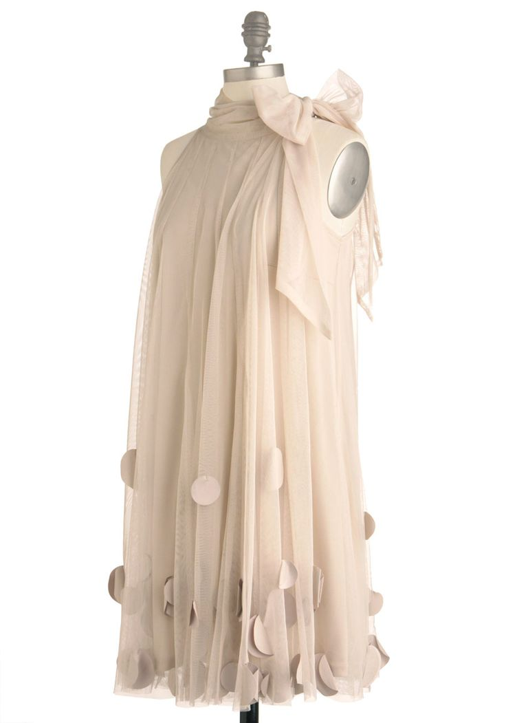 All Neutral Dress. This lovely, neutral-toned dress by Ryu will have everyone at your garden tea party talking. #cream #prom #modcloth