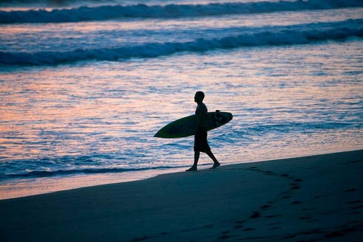#JSSurf. Surf's up at sunset