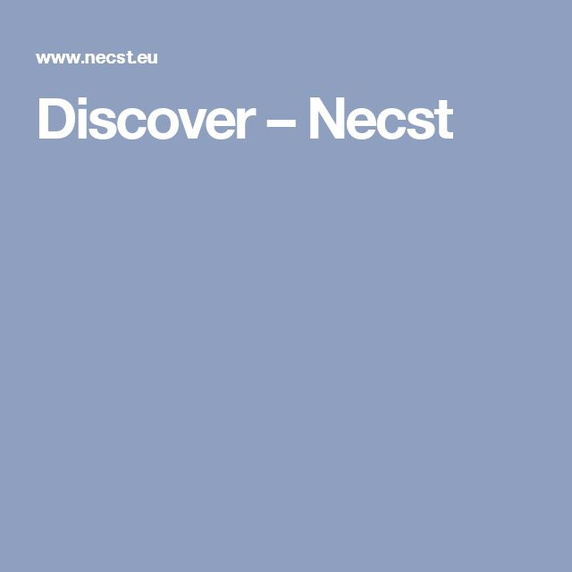 Discover – Necst