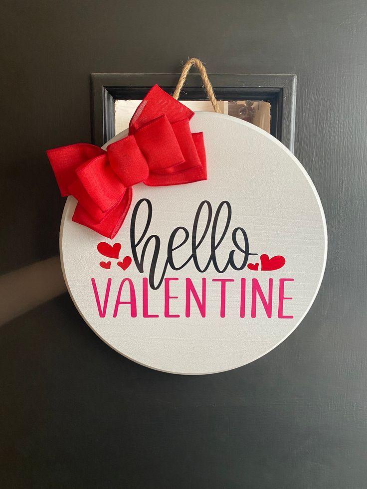 Valentines Door Hanger Valentines Day Decorations Etsy In 2021 Valentines Door Hanger Diy Valentines Decorations Diy Valentines Crafts