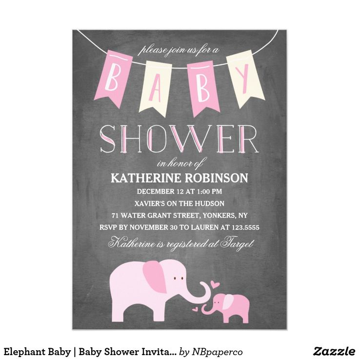 free printable camo baby shower invitations templates%0A Elephant Baby   Baby Shower Invitation
