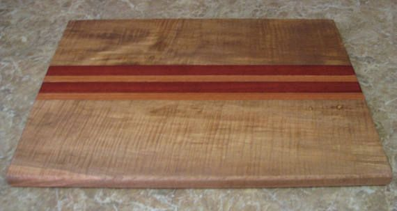 Artisan Crafted Solid Curly Maple Hardwood Cutting Board with