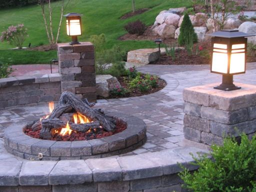someday soon: Outdoor Ideas, Outdoor Fire Pits, Outdoor Living, Backyard Fire Pits, Firepits, Fireplace, Garden, Patio Ideas