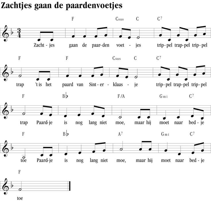 Sinterklaasliedje: zachtjes gaan de paardenvoetjes