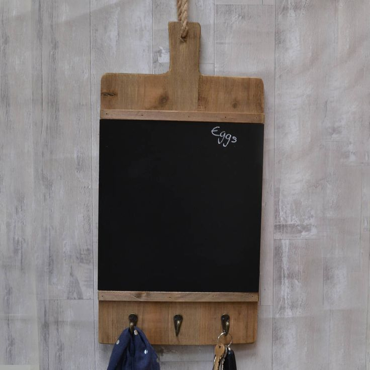 I've just found Large Chopping Board Design Chalk Board And Hooks. A gorgeous rustic chalk board with hooks for the kitchen in the shape of a chopping board. . £45.00