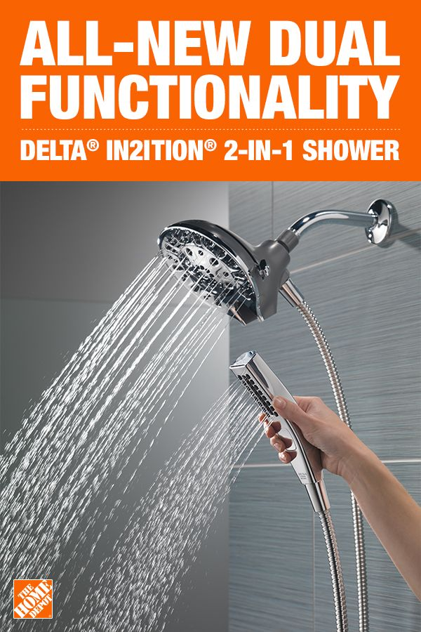 Delta In2ition Two In One 5 Spray 6 In Dual Wall Mount Fixed And