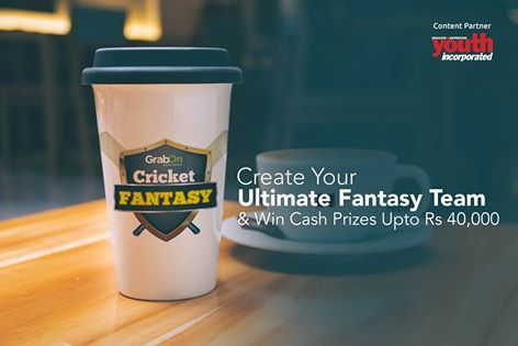 Grab This Ultimate Chance To Win Cash Win Prizes Worth Rs 40,000 . In Association With Youth Incorporated Magazine . Visit : http://www.grabon.in/cricketfantasy/ and Play To Win #GrabTheCup