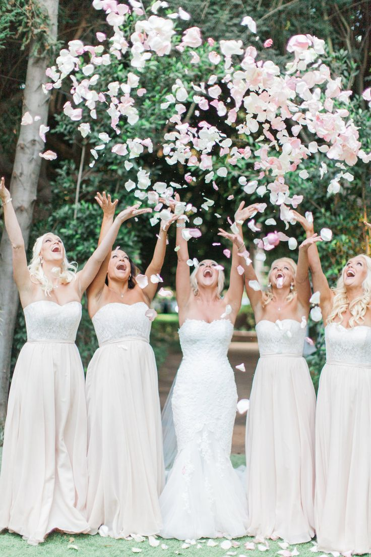Throw your petals in the air like you just don't care! Florist : Casi Cielo Events & Flowers - http://www.stylemepretty.com/portfolio/casi-cielo-events-and-flowers Photography: Natalie Bray Studios  - nataliebray.com   Read More on SMP: http://www.stylemepretty.com/california-weddings/2016/12/21/outdoor-fairytale-wedding/