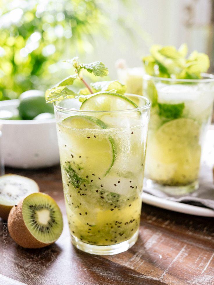 Kiwi Lime Mojitos | www.kitchenconfidante.com It's a getaway in a glass!