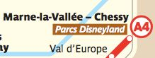 Get to Disneyland® Paris by the RER A train from Paris, stopping at Marne La Vallee station. CDG to Euro Disney by TGV is another option.